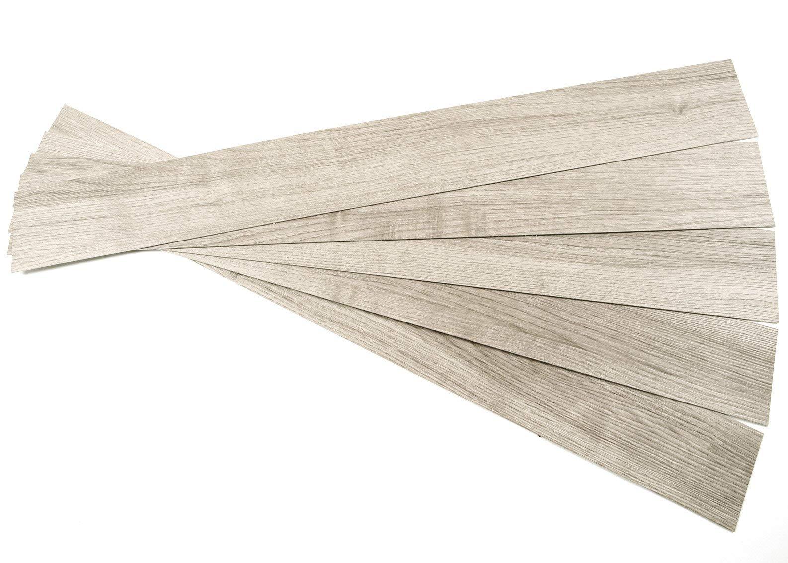 ROSEROSA Peel and Stick Engineered Vinyl Plank and Square Tiles Marble Carpet Stone Concrete Pattern Durable Vinyl Flooring (ECK-705 : 5 Planks)