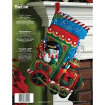 Bucilla Candy Express Christmas Stocking Felt Applique Kit, 86147 18-Inch
