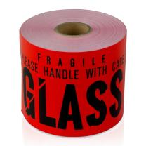 """3"""" x 5"""", Glass Fragile Please Handle with Care Shipping Labels - 6 Rolls"""