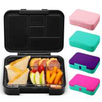 Simple Modern Porter Bento Lunch Box for Kids - Leakproof Divided Container with 5 compartments for Toddlers, Men, and Women - Midnight Black