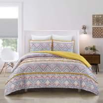 AiMay Boho 3 Piece Comforter Sets Colorful Bohemian Comforters Design Alternative Super Soft Microfiber Stain-Resistant Hypoallergenic (King, Boho)