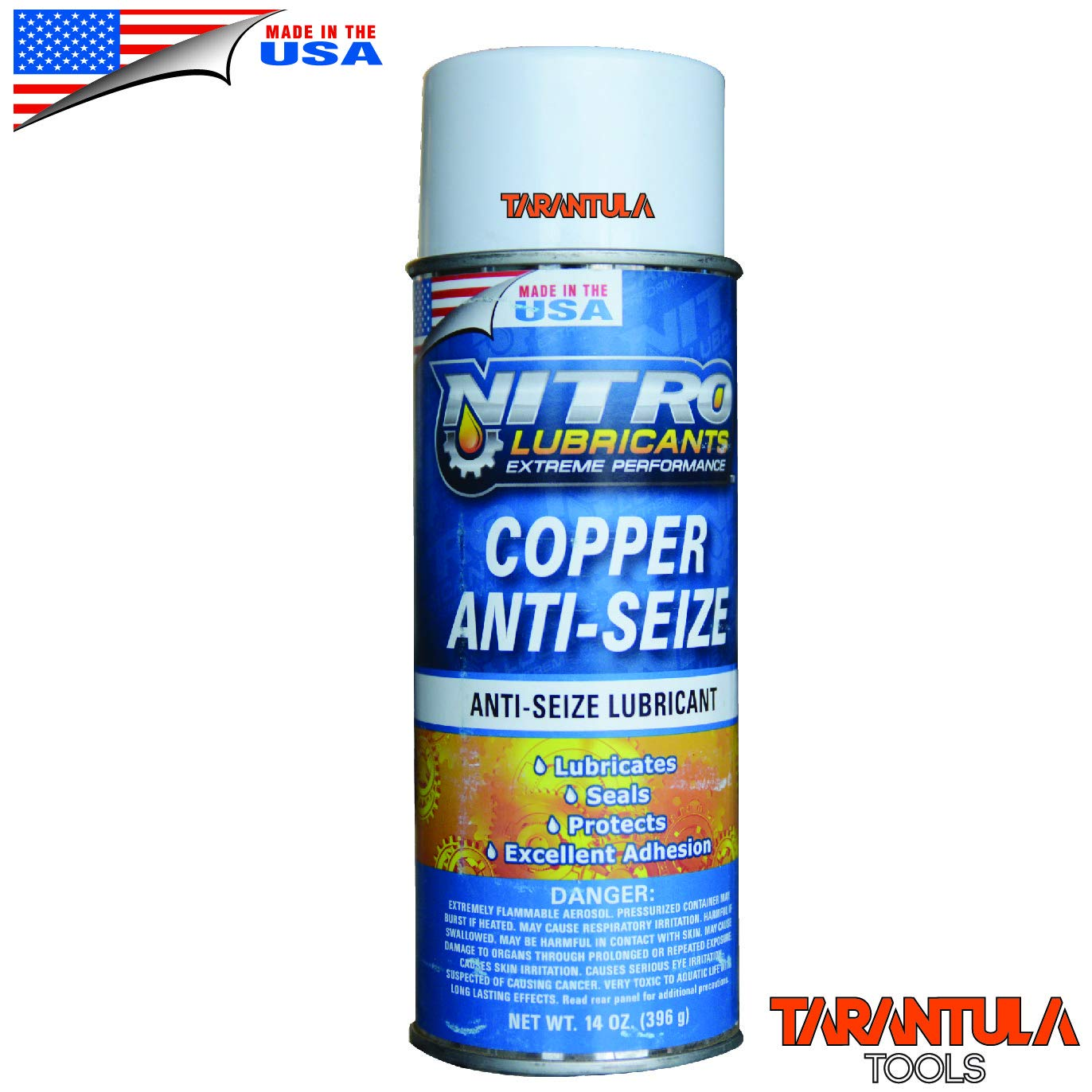 Nitro Lubricants Copper Spray Anti-Sieze - Copper Based Compound - Spray Lubricant - Great for Use On Spark Plug Threads, Brake Parts, Stainless Steel, Aluminum