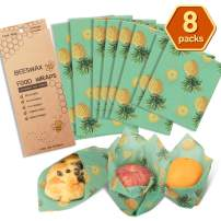 Beeswax Wraps Reusable Food Wrap Reusable Food Wraps Eco Friendly (Yellow and Green)