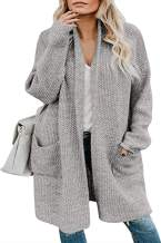 Long Cardigans for Women Long Sleeve Boho Open Front Knit Drape Cloak Outwear with Pockets Cardigan Sweater