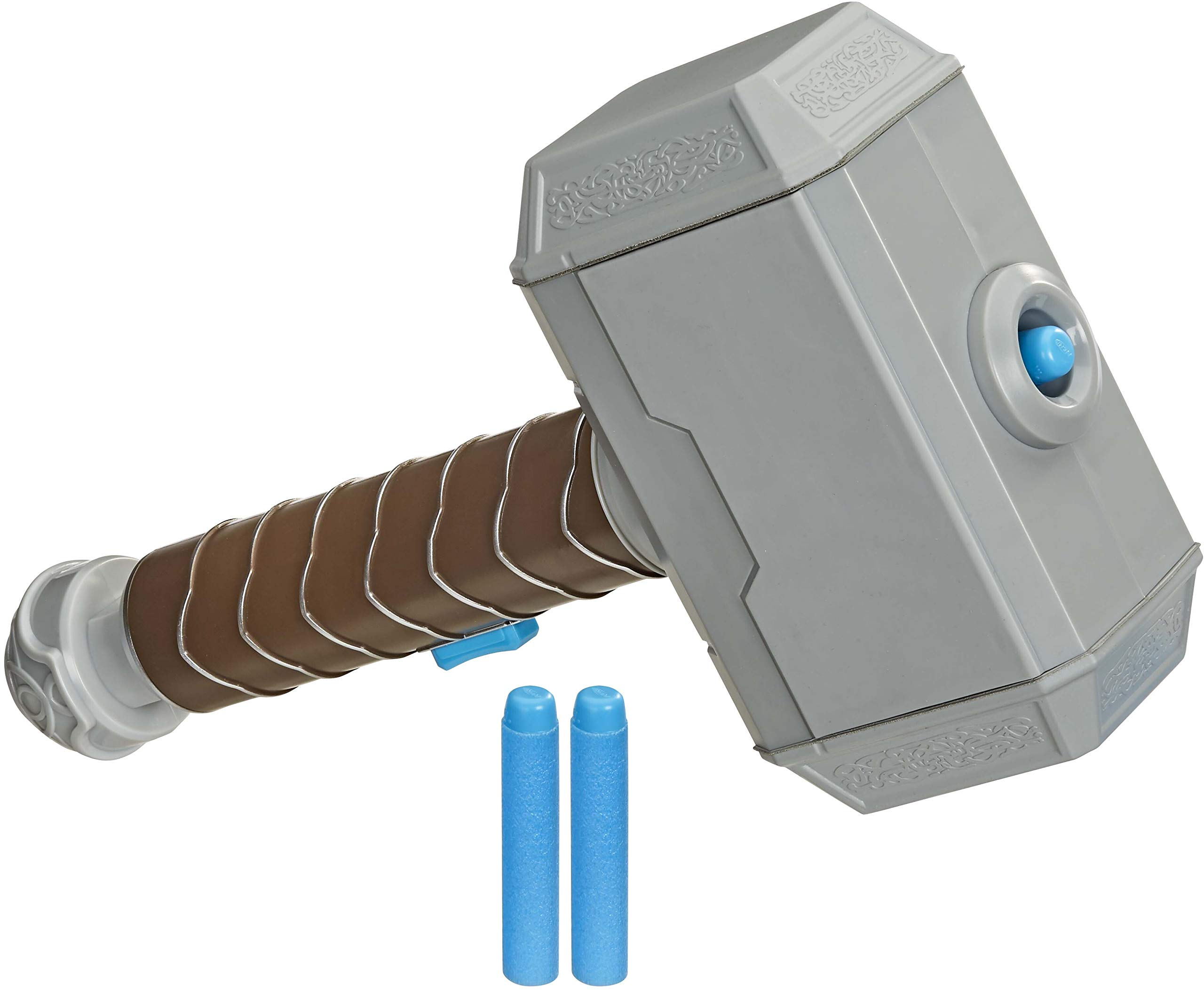 Avengers NERF Power Moves Marvel Thor Hammer Strike Hammer NERF Dart-Launching Toy for Kids Roleplay, Toys for Kids Ages 5 and Up