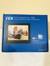 NIX Advance 8 Inch USB Digital Picture Frame - IPS Display, Auto-rotate, Motion Sensor, Remote Control - Mix Photos and Videos in the Same Slideshow