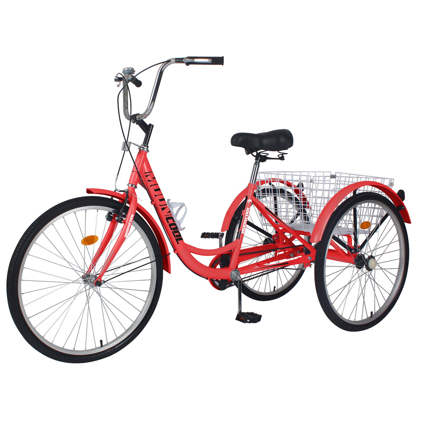 Adult Tricycles, Adult Trikes 20/24/26 inch Single Speed 3 Wheel Bikes for Adults Bicycles Cruise Trike with Shopping Basket for Seniors, Women, Men
