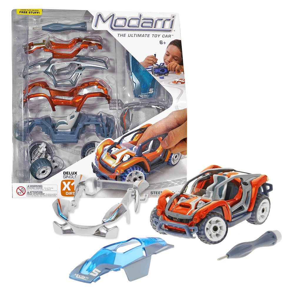 Modarri Delux X1 Dirt Car Build Your Car Kit Toy Set - Ultimate Toy Car: Make Your Own Car Toy - for Thousands of Designs - Real Steering and Suspension - Educational Take Apart Toy Vehicle for Kids