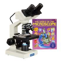 OMAX 40X-2000X Built-in 1.3MP Digital Camera Binocular Compound LED Microscope with Book