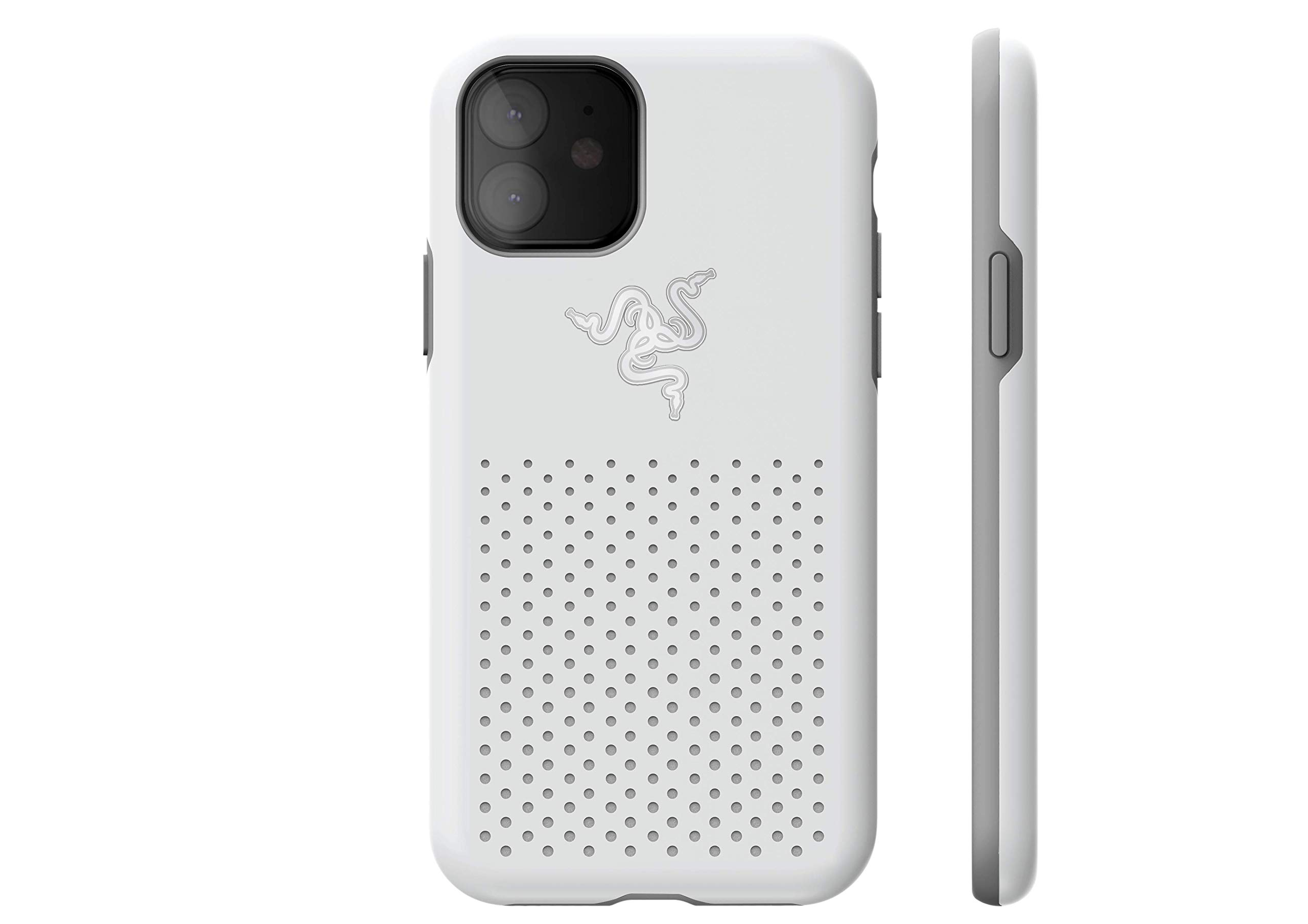 Razer Arctech Pro THS Edition for iPhone 11 Case: Thermaphene & Venting Performance Cooling - Wireless Charging Compatible - Drop-Test Certified up to 10 ft - Mercury White