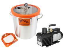 Best Value Vacs 10 Gallon Aluminum Vacuum Chamber and VE280 9CFM 2 Stage Vacuum Pump Kit