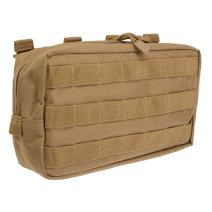 "5.11 Tactical MOLLE Lightweight Pouch, 10"" x 6"" Durable All Weather 1000D Nylon, SlickStick Webbing, for Military, EMT, Medic, style 58716"