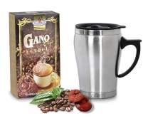 Aren's Gano Excel 3-in-1 Coffee Gift 304 Stainless Steel 10oz / 330ml Coffee Mug with Lid, Coffee Mug, thermal mug, thermos mug, Diameter 8 cm / 3.15 inc, Height 12 cm / 4.72 inc, 10oz / 330ml