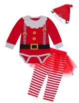 Yruiz Baby Girls 1st Christmas Costume Santa Claus Outfit Newborn Elf Tutu Dress