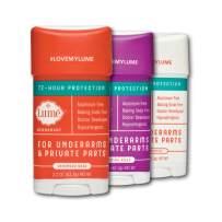 Lume Natural Deodorant - Underarms & Private Parts - Aluminum Free, Baking Soda Free, Hypoallergenic, and Safe For Sensitive Skin - 2.2 Oz Stick 3-Pack Bundle (Lavender Sage, Jasmine Rose & Unscented)