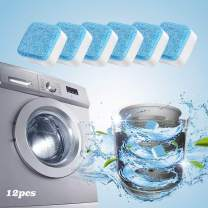 12 Pieces Washing Machine Cleaner, Cleaning deep Remover, Solid Washing Machine Cleaner with Triple decontamination Function, Comprehensive Decontamination for Bathroom Kitchen