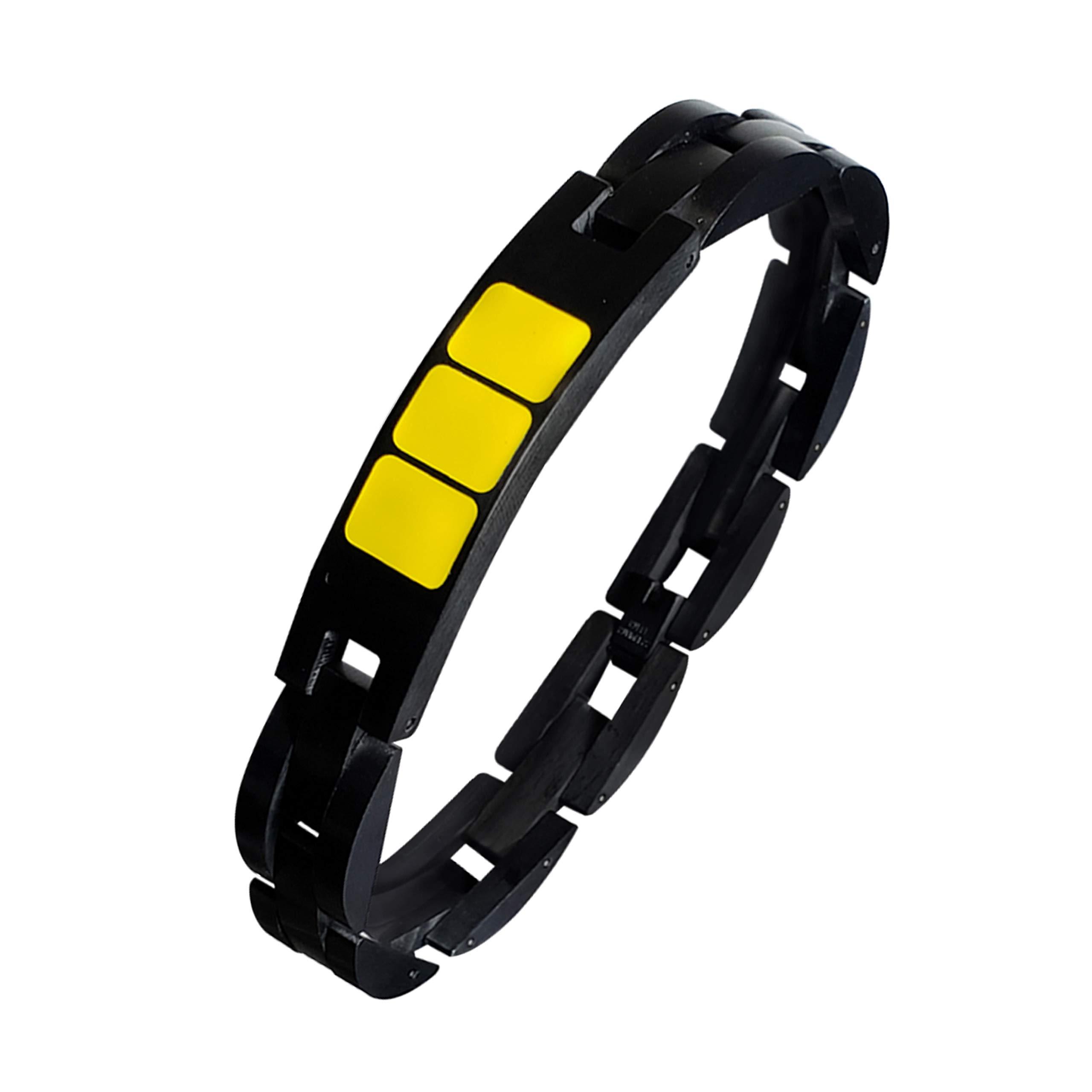 Aviation Pilot Bracelet – Black Matte Stainless Steel - Handmade Paint – Water/Dustproof - Adjustable Size Jewelry - Gift Ready Package - Perfect Airplane Bracelet!