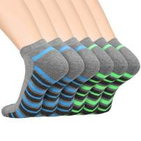 LITERRA Men's Ankle Athletic Running Socks Sports Low Cut Cushioned Socks(6 Pairs)