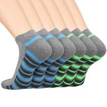 LITERRA Men's Ankle Athletic Running Socks Sports Low Cut Cushioned Socks(6 Pairs)