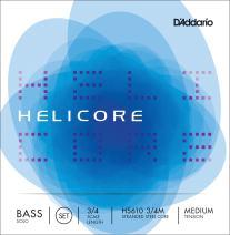 D'Addario Helicore Solo Bass String Set, 3/4 Scale, Medium Tension
