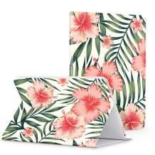 """GVIEWIN Floral Pattern Case for iPad Air (3rd Gen) 10.5 2019 & iPad Pro 10.5"""", Adjustable Multiple Angles Stand Protective Cover Case with Auto Wake/Sleep (Bright Red Flowers/Red)"""