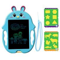 GJZZ Drawing Board Gifts for Kids, Doodle Board Writing Painting Pad Educational Birthday Gifts as Boys Age 3 4 5 6 7 8 - Blue Rabbit