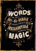 "MightyPrint Harry Potter – Magic Words – Quote – Unique 17"" x 24"" Wall Art – NOT Made of Paper - Movie Collectible"