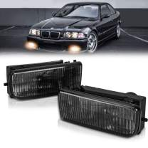 TangMiGe Fog Lights Lamps for 1992 1993 1994 1995 1996 1997 1998 1999 BMW (M3 / E36) 318i 318is 318ti 320i 323i 323is 325i 325is 328i 328is 3 Series Original Design, 1 Pair, Smoke Lens, w/H1 Bulbs