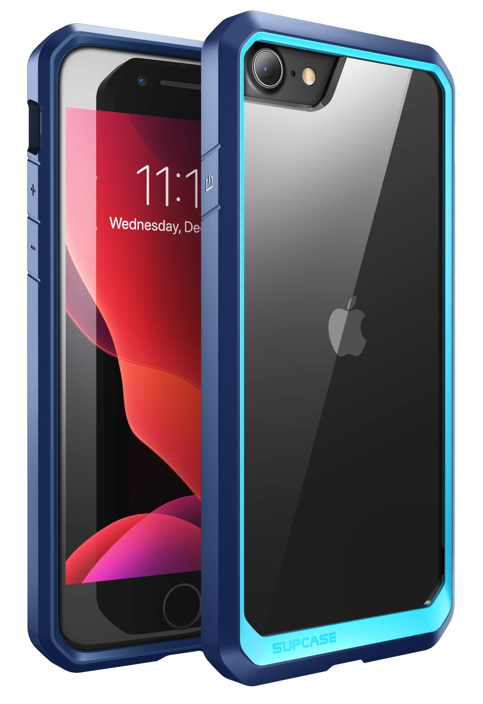 SUPCASE Unicorn Beetle Series Case Designed for iPhone SE 2nd Generation (2020)/iPhone 7/iPhone 8, Premium Hybrid Protective Frost Clear Case (Blue)
