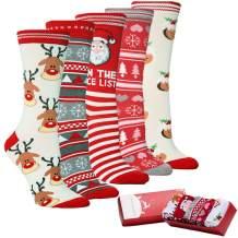 Women Christmas Fuzzy Fluffy Socks - Cozy Warm Slipper Bed Socks For Xmas Gift