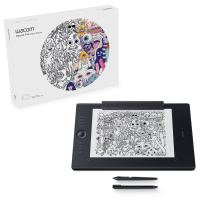 Wacom Intuos Pro Paper Edition digital graphic drawing tablet for Mac or PC, Large (PTH860P), NEW MODEL,Black