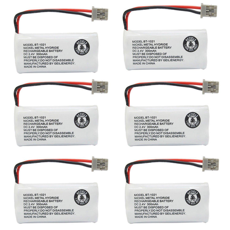 BAOBIAN Model BT-1021 BT-1016 BT-1008 BT-1025 Cordless Phone Battery BBTG0847001 BBTG0798001 Compatible with Uniden BT1021 BT1016 CPH-515B Nickel Metal Hydride Rechargeble DC 2.4V 300mAh(Pack of 6)