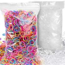 4000pcs Elastic Hair Bands, YGDZ Multi Color Mini Hair Holder Elastic Rubber Bands Hair Ties for Baby Girls Toddlers (2000pcs Clear + 2000pcs Colorful)