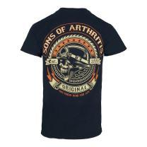 Sons of Arthritis Mens Screamer Black Biker T-Shirt