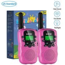 Kids Walkie Talkies for Girls 2 Pack, 3 Miles Long Range 2 Way Radio Toys for Girls Age 5-10 Year Old