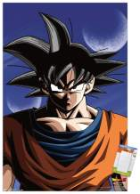 "Trends International Dragon Ball Z-Goku Mount Wall Poster, 22.375"" x 34"", Poster & Mount Bundle"