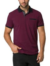COOFANDY Mens Short Sleeve Polo Shirts Slim fit Casual Basic Golf T Shirt
