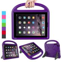 LEDNICEKER Kids Case for iPad 2 3 4 - Light Weight Shock Proof Handle Friendly Convertible Stand Kids Case for iPad 2, iPad 3rd Generation, iPad 4th Gen Tablet - Purple