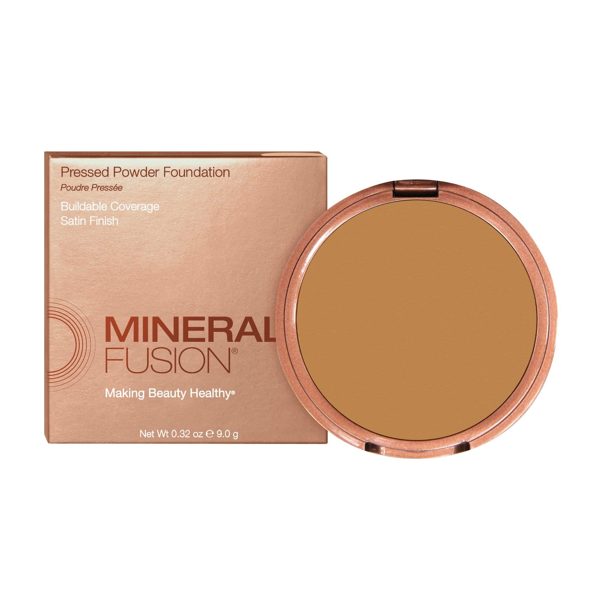 Mineral Fusion Pressed Makeup Powder Foundation Olive 4, 0.32 oz