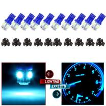 cciyu 10 Pack Ice Blue T10 W5W Wedge 168 194 LED Bulb Replacement fit for Dome Light Map Light Trunk Cargo Area Light License Plate Light