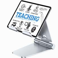TORRAS Desk Stand for Tablets & Cell Phones, [Big-Hand] All Metal Foldable Table Holder Compatible with iPad 12.9/iPad Pro/Mini, Kindle, iPhone 11 Pro Max, Samsung Galaxy S20 Ultra, Tab and More