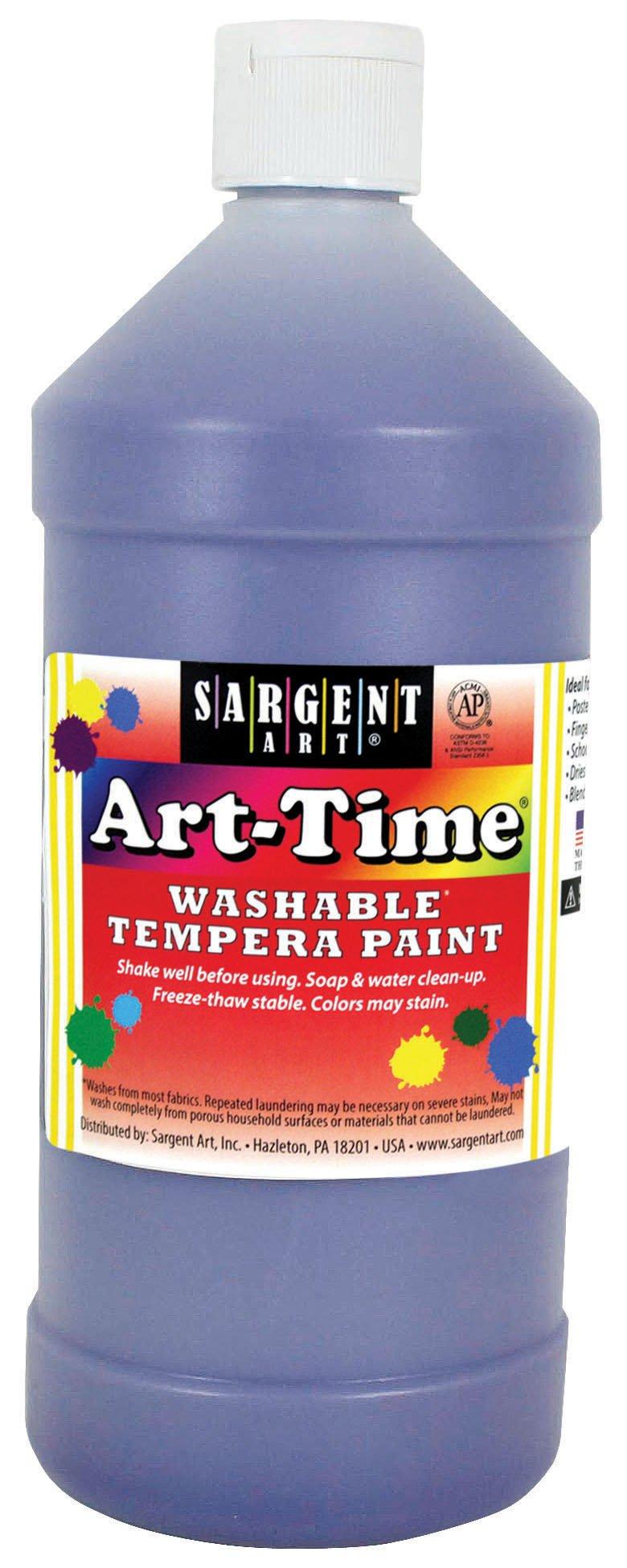 Sargent Art 17-3542 32 oz Violet Art-Time Washable Tempera Paint