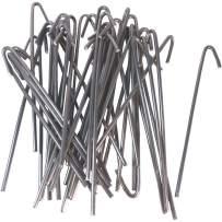 """Jake Sales 6-1/2"""" Wire Ties (Aluminum) (aka, Chain Link Fence Hook Ties, Tie Wires) (100 Pack)"""