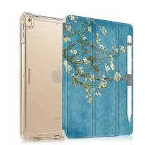 iPad 10.2 Case 2019 with Pencil Holder Folio Stand Case for iPad 7th Generation, Protective Shockproof Case with Auto Sleep/Wake for iPad 10.2 inch, Almond Blossom