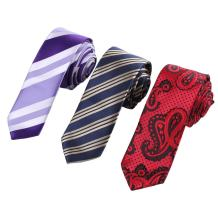Epoint EAFF0019 Cheap Silk Striped Slim Ties For Lawyers Men's 3pc Skinny Neckties Set