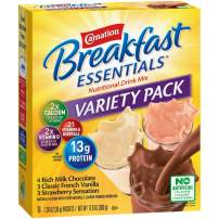 Carnation Breakfast Essentials Powder Drink Mix, Variety Pack, Box of 10 Packets (Pack of 6) (Packaging May Vary)