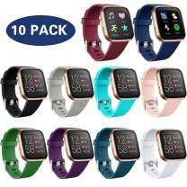 Maledan 10 Pack Bands Compatible with Fitbit Versa 2/Versa Smartwatch/Versa SE/Fitbit Versa Lite for Women Men, Small