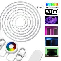 Elegant Choise LED Strip Lights, Waterproof LED Tape Light Kit Support iOS/Android APP Control 12V Color Changing RGB LED Rope Lights for Cabinet Bedroom Home Bar Party Wedding Decoration (2M)