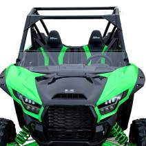 """Kawasaki Teryx KRX Half Windshield - SCRATCH RESISTANT- The Ultimate in Side By Side Versatility - On or off in seconds - Premium polycarbonate - Made in America. (Tall Height - 11 1/5"""" Tall)"""