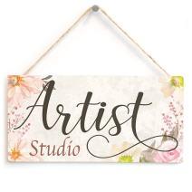 """Meijiafei Artist Studio - Art Studio Door Gift Sign 10""""x5"""""""
